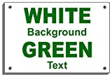 PLEASE USE OTHER DOOR Weatherproof sign 5170 Aluminium, PVC or Sticker(30cm x 40cm approx 12' 16' Dilite 3mm Dark Green on White)