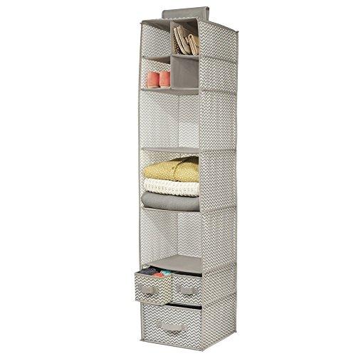 70ac141c1 mDesign - Chevron - Organizador colgante, de tela, para almacenamiento en  el armario,