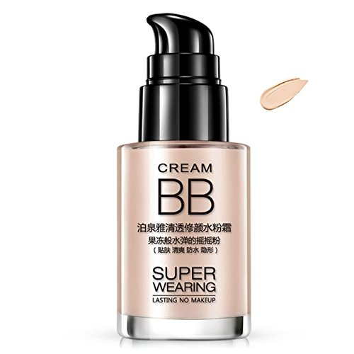 LAIKOU 40G Men BB Cream Whitening Liquid Concealer Foundation Moisturizer Long Lasting Waterproof Brighten CC Cream Face Makeup