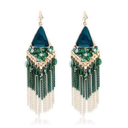 Quaste Ohrringe Korea Langen Abschnitt Europa Und Amerika Retro Kristall Ohrringe Nationalen Wind Ohrringe Ohrringe Koreanische Mode Weibliche ()