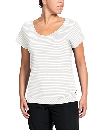 Red Womens Tank Top (Vaude Damen Skomer II T-Shirt, White, 40)