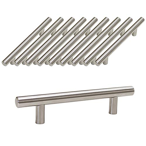 Probrico Furniture Cabinet Handles PD201HSS96 Stainless Steel Diameter 12mm Hole to Hole 96mm 4 10 PCS by Probrico -