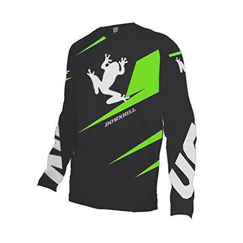 Uglyfrog 2018 Downhill Trikot Lange Ärmel Herren Mountainbike Freeride BMX Fahrradtrikot Motocross MTB/Downhill Bekleidung Z04 (Trikot Fahrrad Freeride)