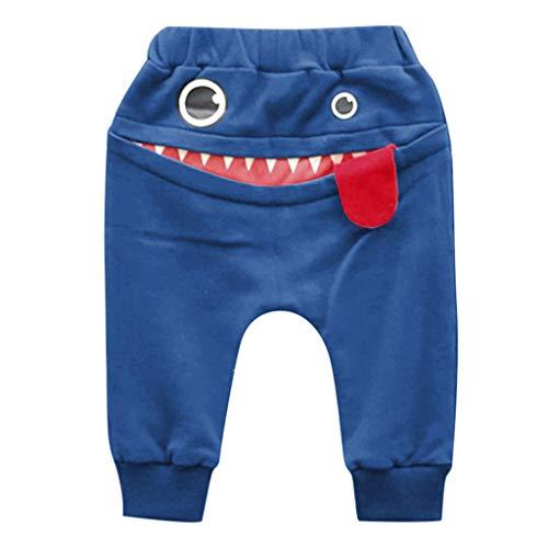 serliy Baby Kinder Kinder Jungen MäDchen Cartoon Shark Zunge Harem Hosen   Sommermode Casual Kinderhose PersöNlichkeit Jogginghose