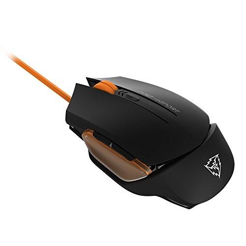 ThundeX3 TM20OR- Ratón gaming profesional- (Sensor óptico, Conmutador mecánico Omron, 4000DPI, Retroiluminación LED, memoria integrada, USB) Color Negro y Naranja