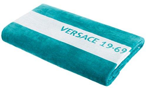 Versace Badetuch Strandtuch Badehandtuch Saunatuch von Brandsseller 100% Baumwolle ca. 90x180 cm Farbe: Türkis