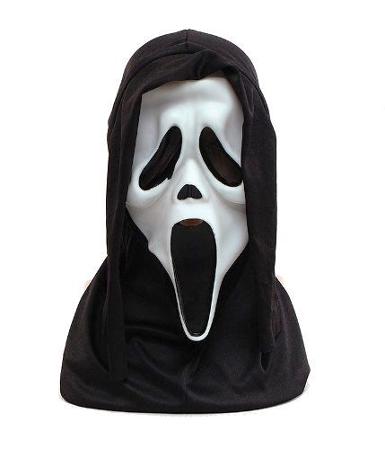 Scream Original Halloween Glow in Dark Gummi Erwachsene Fancy Kleid (Maske Glow In The Scream Dark)