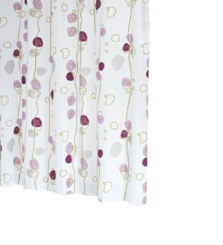 Ridder 42391-350 Duschvorhang Textil ca. 180 x 200 cm, Soaring lila inklusive Ringe