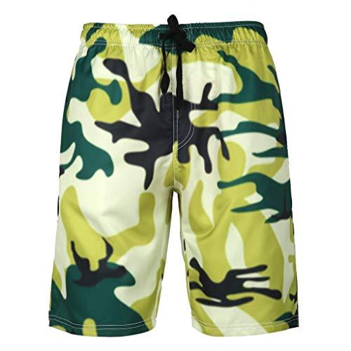Doppel Taille Jean (Herren Herren Badehose Badeshorts Beach Swim Shorts Sommer Mode 3D Gedruckt Sports Sport Joggen und Training Shorts Freizeitsport Strandhosen Plus Size Zolimx)