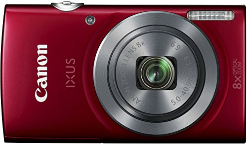 Canon IXUS 160 Digitalkamera (20 MP, 8-fach optisch, Zoom, 16-fach ZoomPlus, 6,8cm (2,7 Zoll) LCD-Display, HD-Movie 720p) rot -