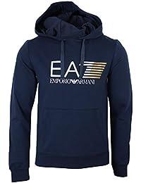 Emporio Armani EA7 Hoody Mens Navy Blue Hooded Sweatshirt