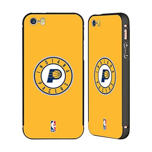 Ufficiale NBA Marmo B&N Indiana Pacers Nero Cover Contorno con Bumper in Alluminio per Apple iPhone 5 / 5s / SE Semplice