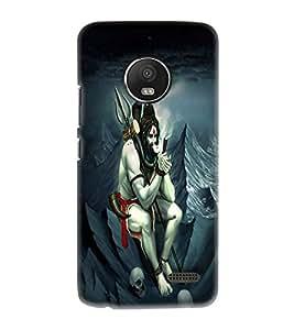 OBOkart Lord Shiva 3D Hard Polycarbonate (Plastic) Designer Back Case Cover for Motorola Moto E4 :: Motorola Moto E (4th Gen) :: XT1766 :: XT1763