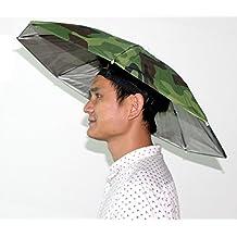 Sombrero Plegable Paraguas de Sol al Aire Libre Golf Pesca Camping Sombreros Cap Cabeza Hat (