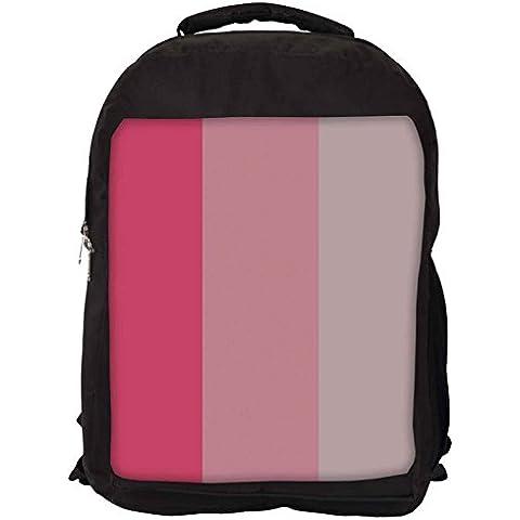 Snoogg Rosa E Grigio A Righe Laptop Backpack Casual Zaino Della Scuola