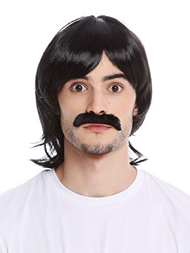 WIG ME UP ® - 91105-ZA103 Peluca Bigote Hombres Halloween