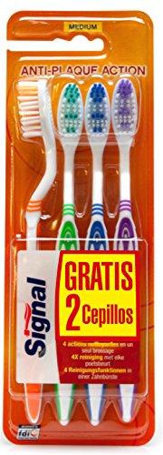 Signal Pack Cepillo de Dientes -  4 Piezas x 4 unidades (Total: 16 Cepillos de dientes)