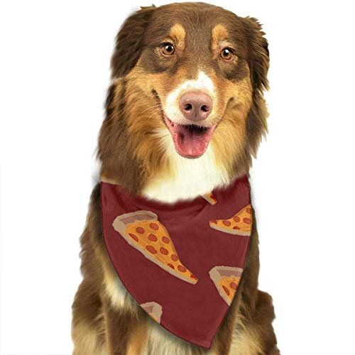 dfegyfr Delicious Pizza Dog Bandanas - Washable and Reversible Triangle Cotton Dog Bibs Scarf Assortment Suitable for Puppy Small and Medium Pet