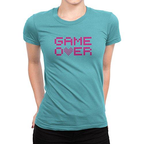 Planet Nerd Game Over - Damen T-Shirt Hellblau