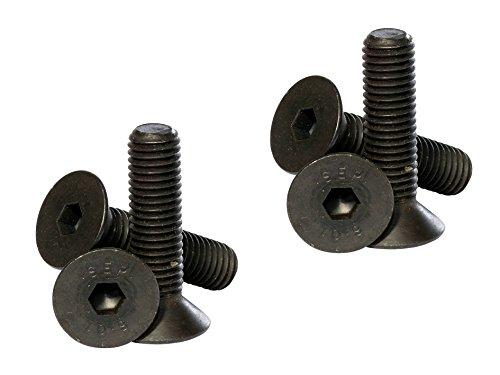 8MM metrisches Gewinde Senkkopf Schrauben (6Pack) M8x 12mm (inkl. Kopf) schwarz hohe Zug-(10.9) Socket CSK Allen Key Head/Schrauben Dunkelviolett