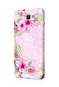 Cover Affair Floral / Flowers Printed Designer Slim Light Weight Back Cover Case for Samsung Galaxy J7 Prime (Pink)