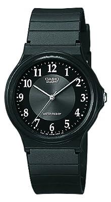 Casio MQ-24-1B3LLEF de cuarzo para hombre con correa de resina, color negro