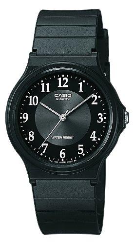 Casio-Reloj-analgico-de-cuarzo-para-hombre-correa-de-resina-color-negro