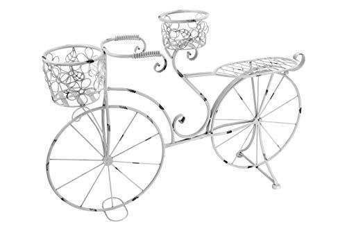 Decoline Deko Blumen-Fahrrad weiß