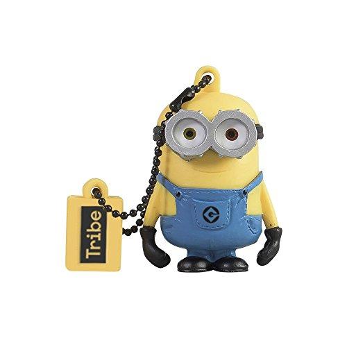 Tribe Los Minions Despicable Me Bob - Memoria USB 2.0 de 8 GB Pendrive Flash Drive de Goma con Llavero, Color Amarillo