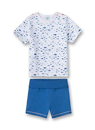 Sanetta Baby - Jungen Zweiteiliger Schlafanzug Pyjama Short 220928.0, Gr. 80, Weiß (White 10.0)