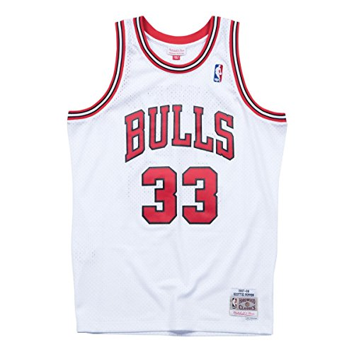 Mitchell & Ness Scottie Pippen #33 Chicago Bulls 1997-98 Swingman NBA Trikot Weiß, XXL