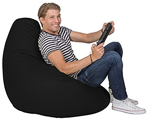 Lumaland Luxury stylischer Gaming Beanbag Lederimitat Sitzsack 230L Füllung Indoor
