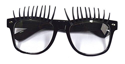 Karneval Klamotten Kostüm Brille mit Wimpern Zubehör Fasching Karneval