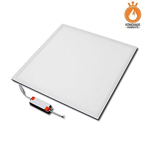 48 Watt LED Paneel ✓Neutralweiß 4500K ✓ 3000lm ✓ inkl. Trafo ✓ Wandlampe/Deckenlampe inkl. Abhängedrahtseiltechnik und Befestingungsmaterial (60x60cm)