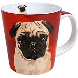 Taza, diseño de perro carlino por Leslie Gerry
