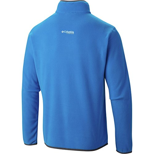 Columbia Mens Titan Pass 1.0 Half Zip Fleece Jacket Hyper Blue