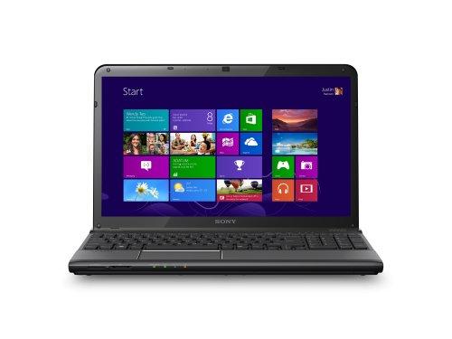 Sony VAIO SVE1513J1EB 39,5 cm (15,5 Zoll) Laptop (Intel Core i3 3120M, 2,5GHz, 4GB RAM, 500GB HDD, AMD HD 7650M (1GB), DVD, Win 8) schwarz