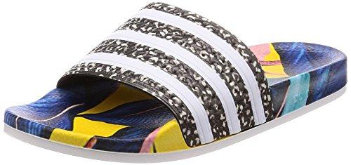 Adidas adilette w scarpe da spiaggia e piscina donna,multicolore (supcol/ftwbla/negbás 000), 43 eu