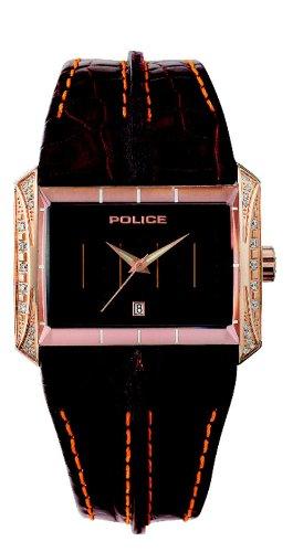 Police - GLAMOUR MATRIX PL11190JSR/02A - Montre Femme - Quartz - Analogique - Bracelet Cuir Marron