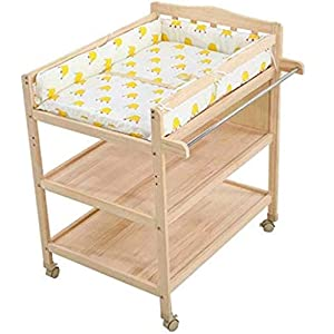 YYLVM Solid Wood Diaper Table Baby Care Table Safe Baby Changing Table Foldable, Changing Table And Bath Foldable 2-In-1 Baby Bath   7