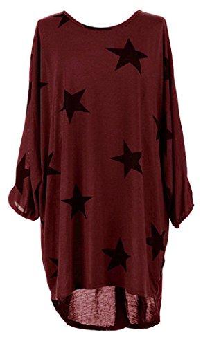 Suimiki Damen Oversize Pullover lang Sweatshirt locker Oberteile Asymmetrisch-DRXL