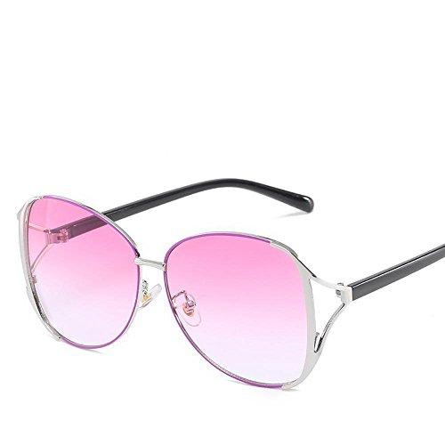 Luziang Sonnenbrillen Mode Metal Spektakel Frame Ozean Gradient Sonnenbrille Anti-UV-Sonnenbrillen,Fahren, Reisen, Outdoor-Sport