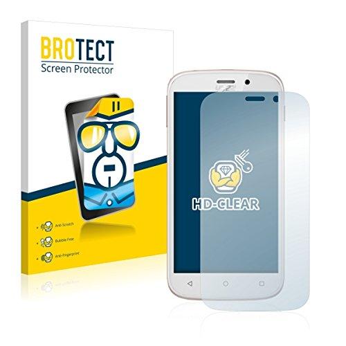 2X BROTECT HD Clear Bildschirmschutz Schutzfolie für Yezz Andy 5M VR (kristallklar, extrem Kratzfest, schmutzabweisend)