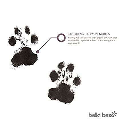 Cat and Dog Pet Paw Print Kit – pet-safe ink pad with drawstring bag - black inkpad 2