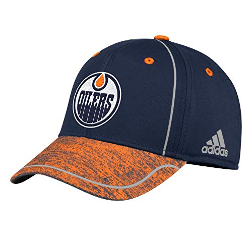 adidas Edmonton Oilers 2018 Alpha Stretch Fit NHL Cap e85151e5100a