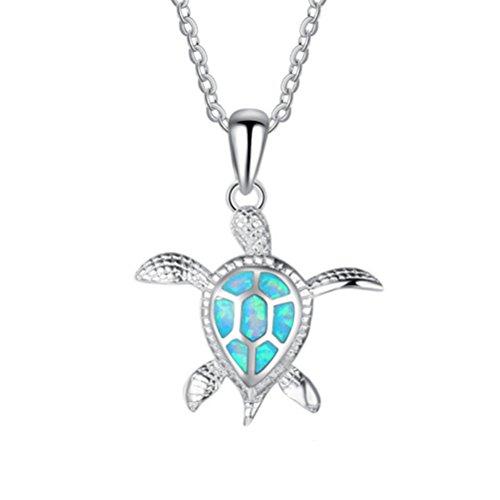 FlightShop Halskette Nette Kleine Schildkröte Anhänger 925 Sterling Silber Halskette Schlüsselbein Kette Frauen Mode Temperament Schmuck Geschenke, Silber