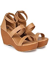 R DEZINO Latest Collection Comfortable & StylishWedge Heels Sandals for Women's/Girl's