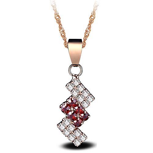 LAISIGOU Goldene kreative Diamant-Verbindungs-Mosaik-Kristallanhänger-Halskette (Verbindung Halskette Chemische)
