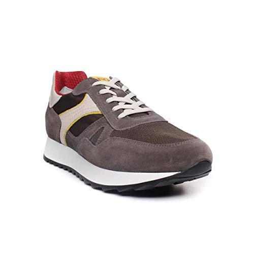 Nero giardini p900941u/522 sneakers scarpe sportive uomo lacci stringhe oliva (41 eu)