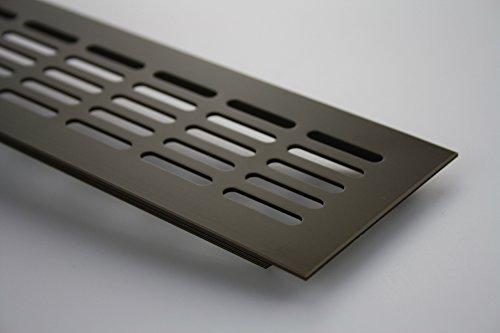 Griglia aerazione Piano a ponte Ventilazione in alluminio 80mm x 300mm in diversi colori - Marrone anodizzato - C4
